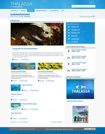 Diseño página web Thalassa