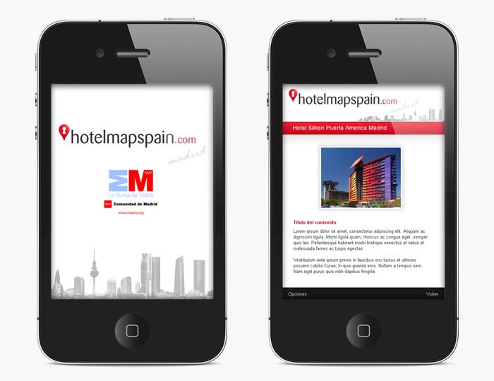 Desarrollo app móvil Guiablue Hotelmapspain Madrid