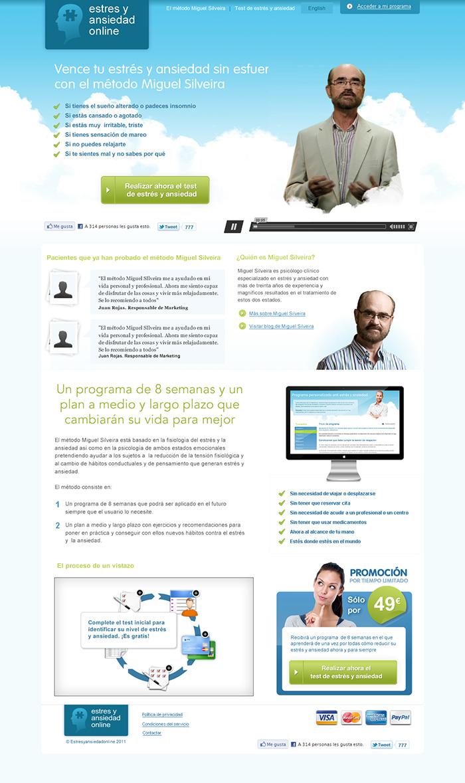 Diseño web Estrés y Ansiedad Online