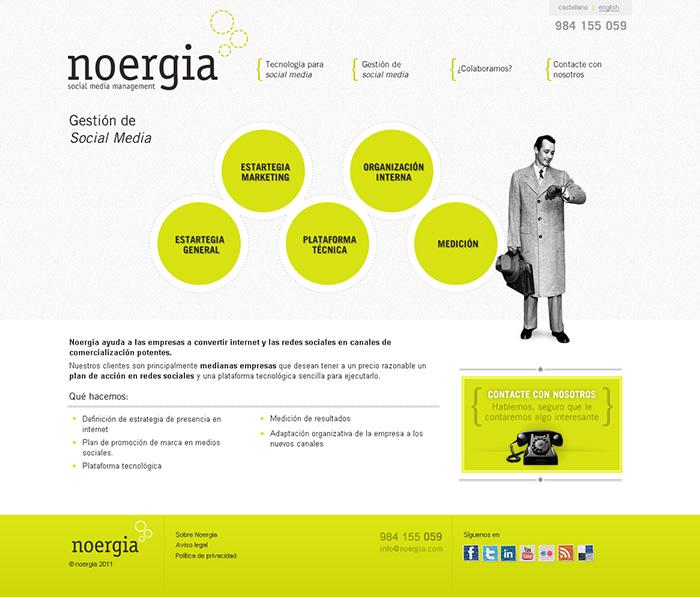 Diseño página web Noergia