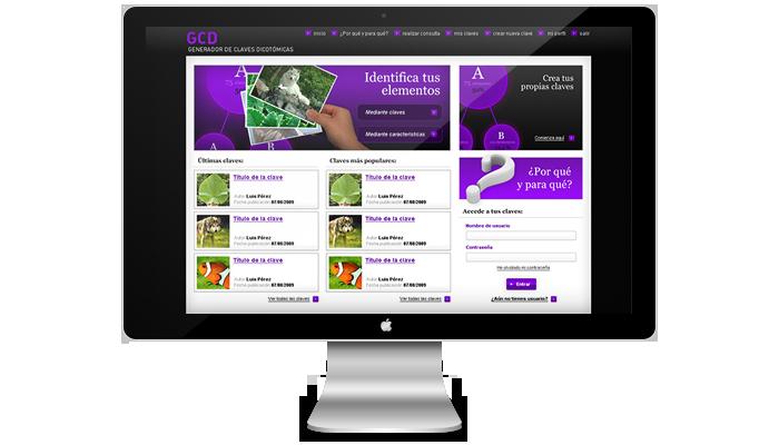 Diseño web Generador de Claves Dicotomicas