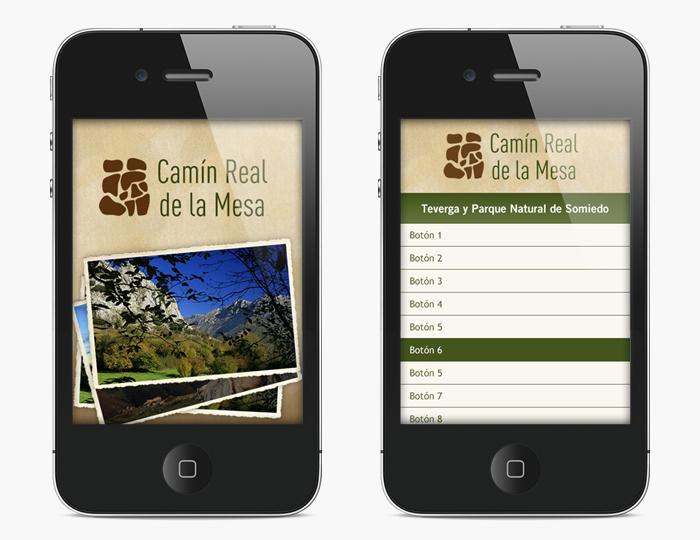 Desarrollo app móvil Guiablue Camín Real de la Mesa