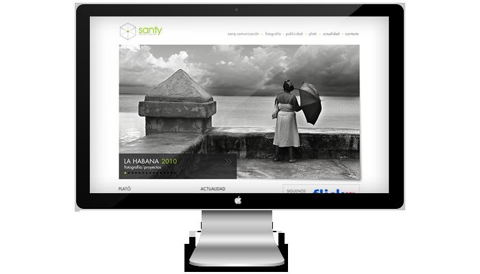 Diseño página web Santy Comunicación