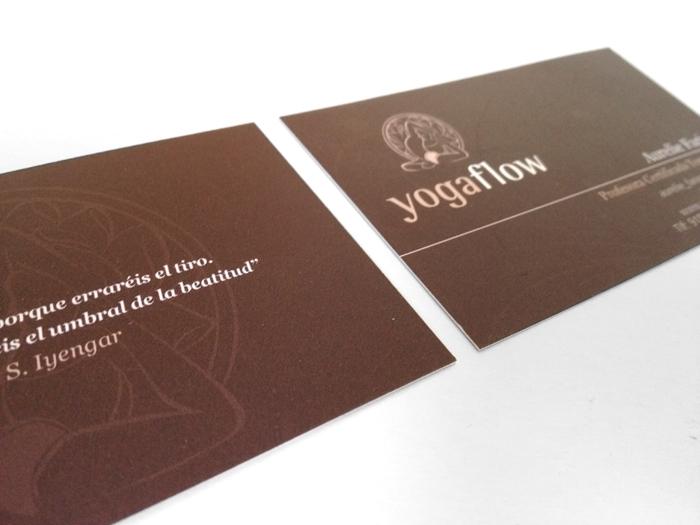 Diseño tarjetas de visita Yogaflow