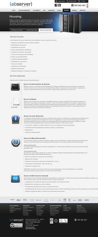 Diseño página web ABserver