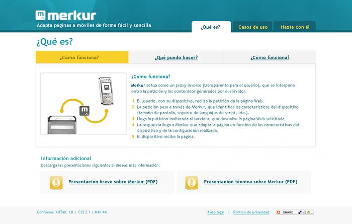 Diseño web plataforma Merkur
