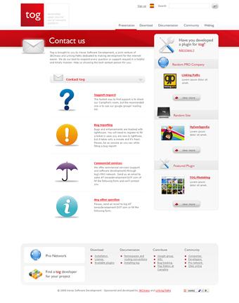 Diseño página web Tog
