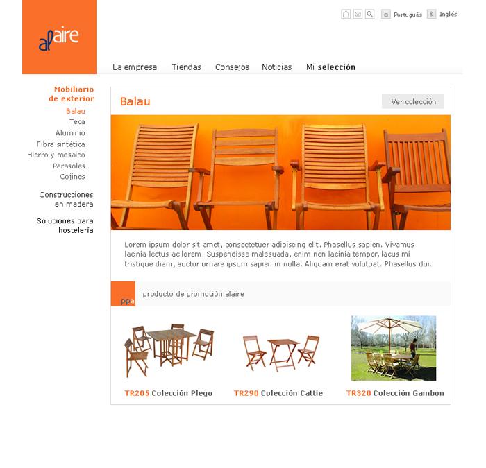 Diseño página web Alaire