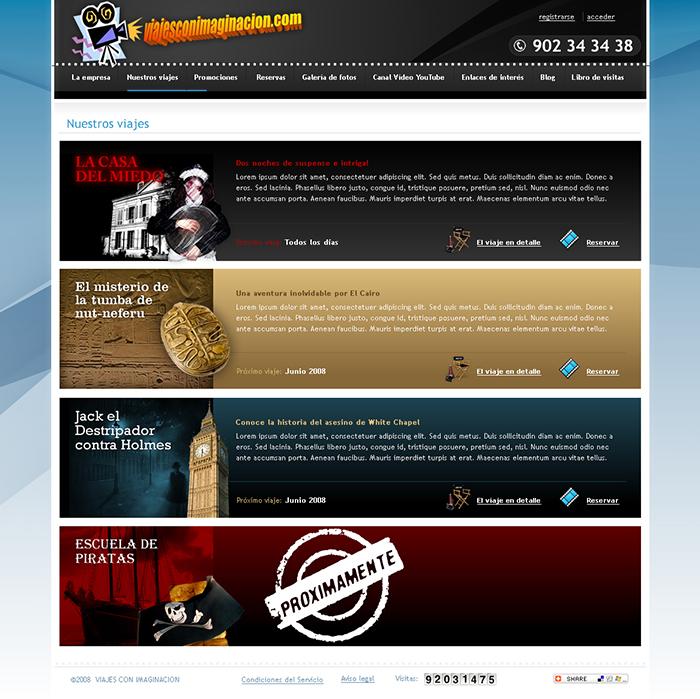 Diseño página web Viajes con Imaginación
