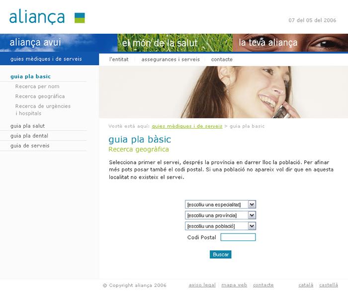 Diseño página web Aliança