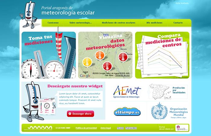 Diseño web plataforma del Portal meteorología escolar