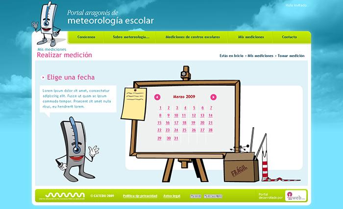 Diseño web del Portal meteorología escolar