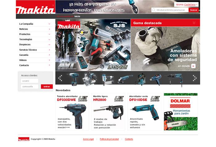 Diseño página web Makita