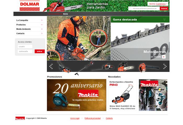 Diseño página web Dolmar