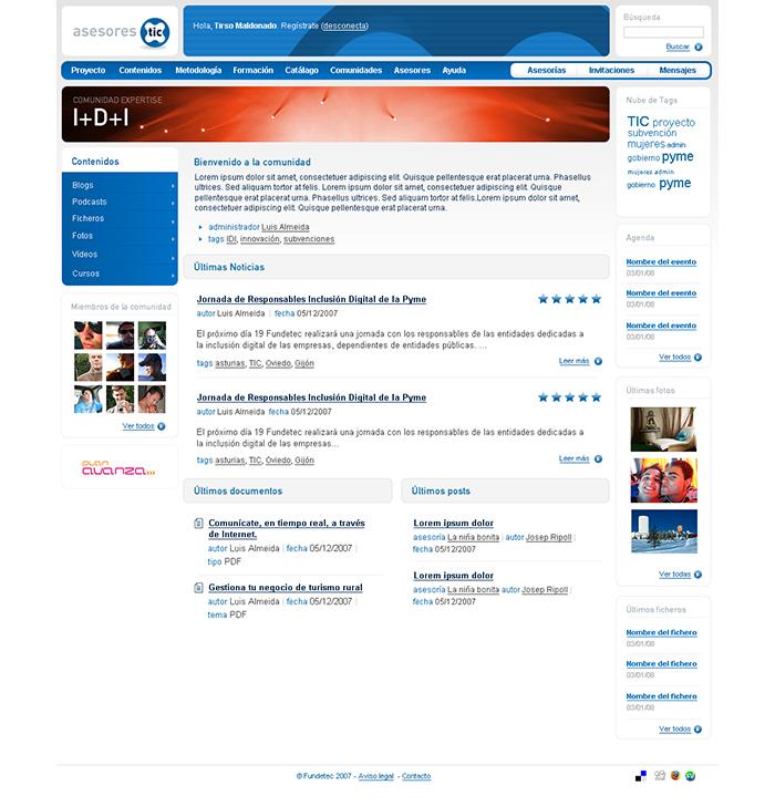 Diseño web Asesores Tic