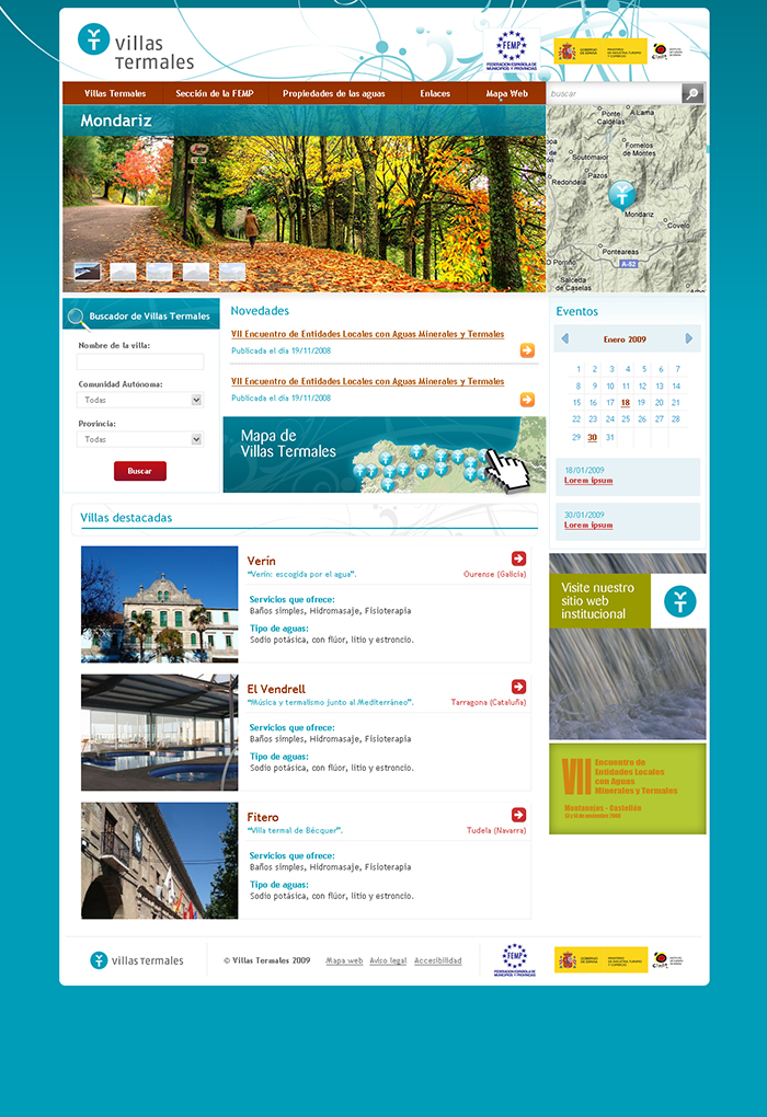 Diseño página web Villas Termales