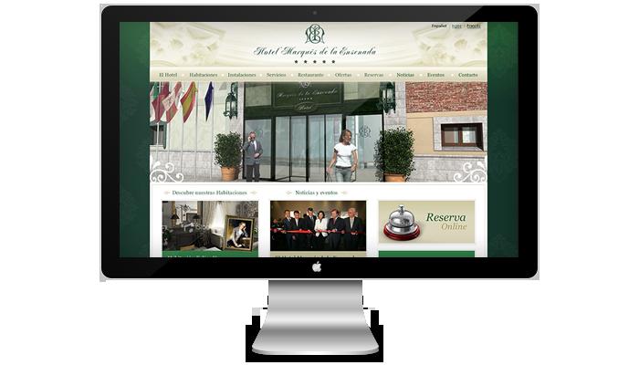 Diseño página web Hotel Marqués de la Ensenada
