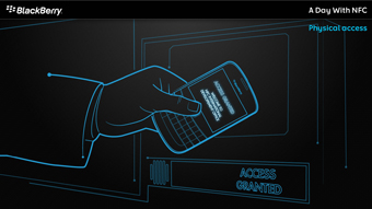 Diseño multimedia BlackBerry NFC
