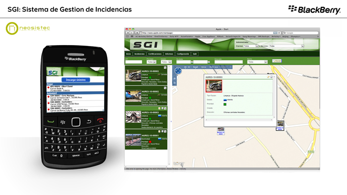Video BlackBerry SGI Peritos