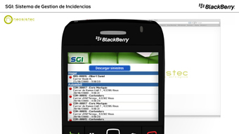 Detalle de video BlackBerry SGI Peritos