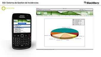Detalle de video BlackBerry SGI Peritos
