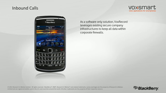 Video BlackBerry VoxSmart