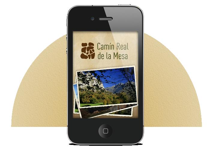 Diseño app móvil Guiablue Camín Real de la Mesa