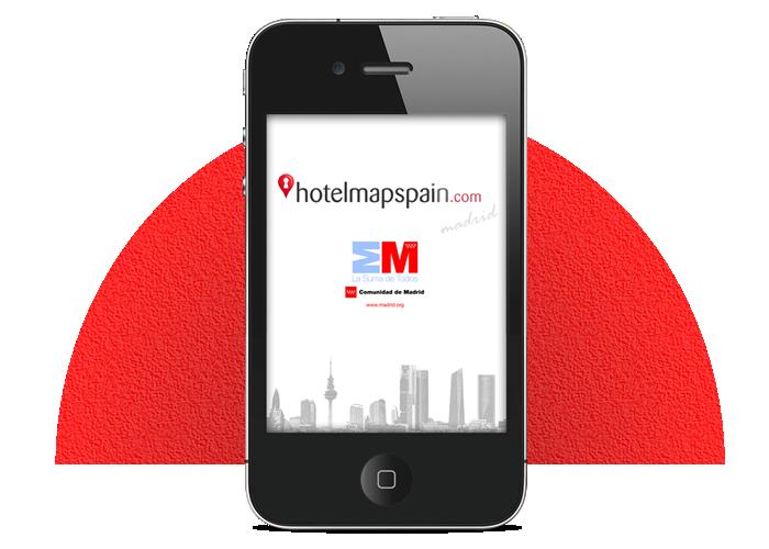 Diseño app móvil Guiablue Hotelmapspain Madrid