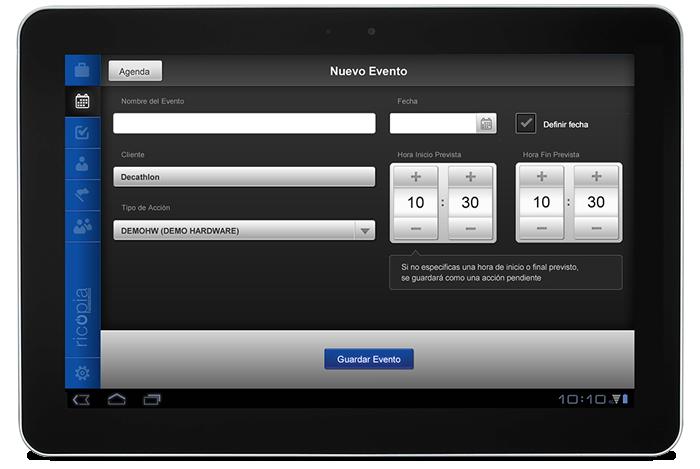 Desarrollo app móvil Sales Force Management by Ricopia