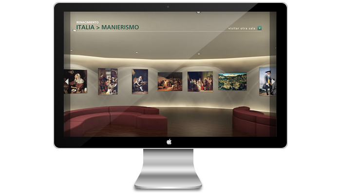 Diseño multimedia Pinacoteca virtual Planeta
