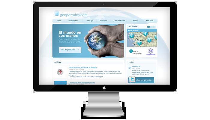 Diseño página web Geoportales