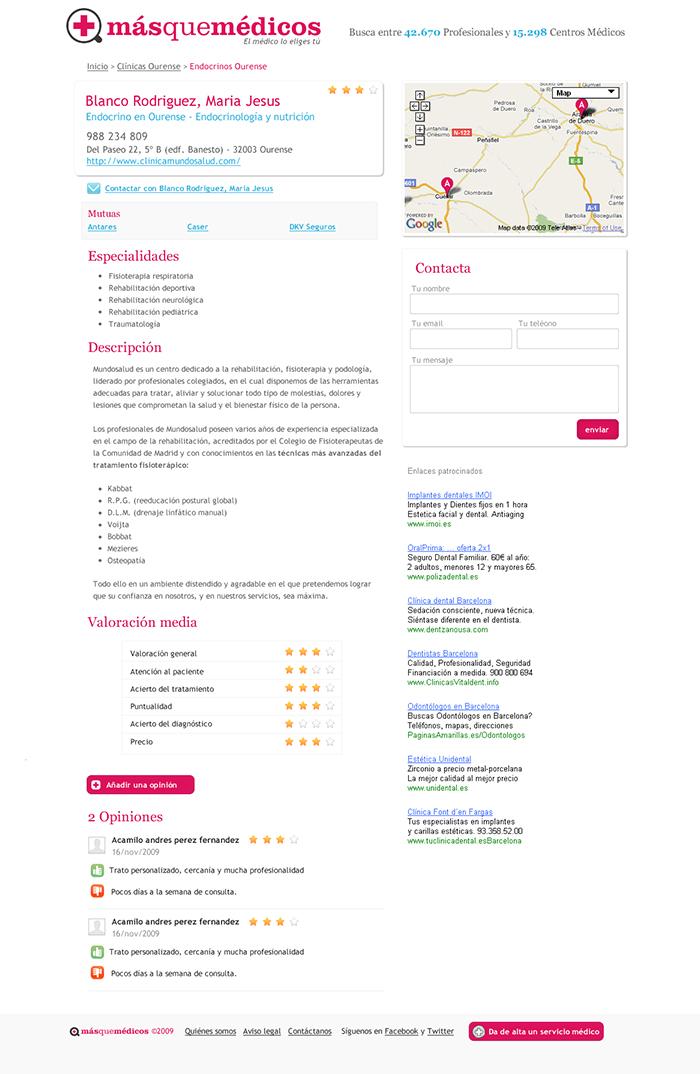 Diseño web Másquemédicos
