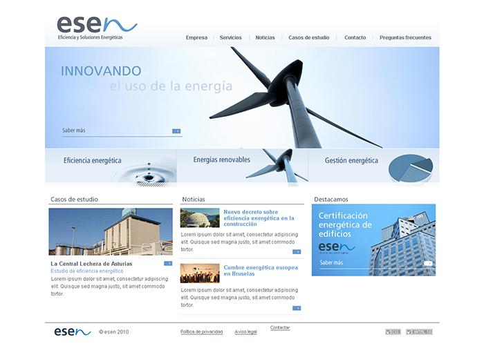 Diseño página web Grupo Esen
