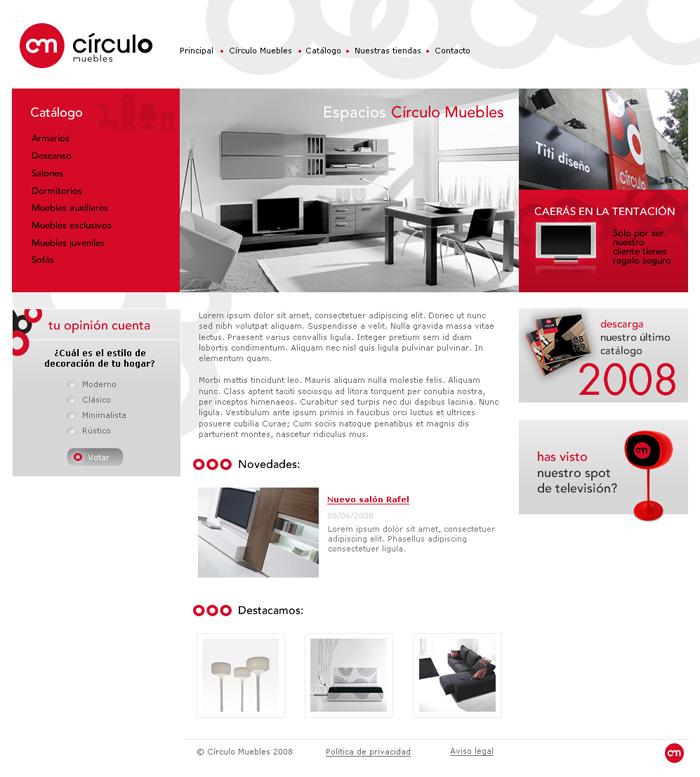 Diseño página web Círculo Muebles