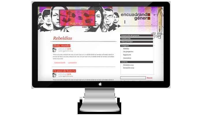 Diseño web Encuadrando Género