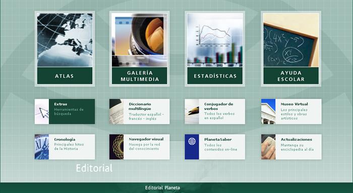 Diseño multimedia Gran Enciclopedia Planeta 2009