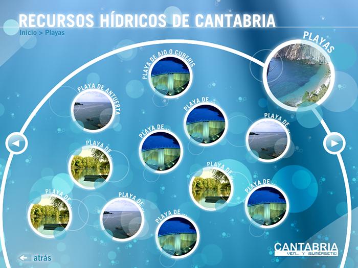 Diseño multimedia Paisajes Hídricos de Cantabria