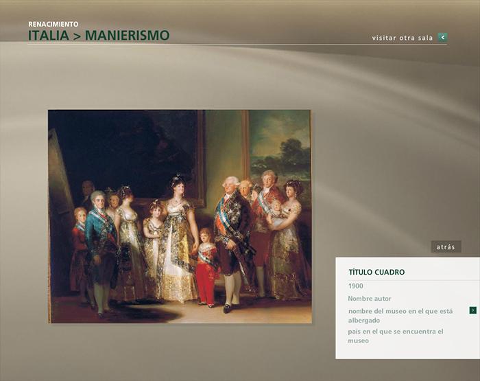 Diseño multimedia Pinacoteca virtual Planeta