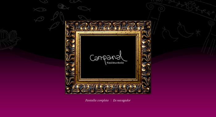 Diseño página web Restaurante Campanal