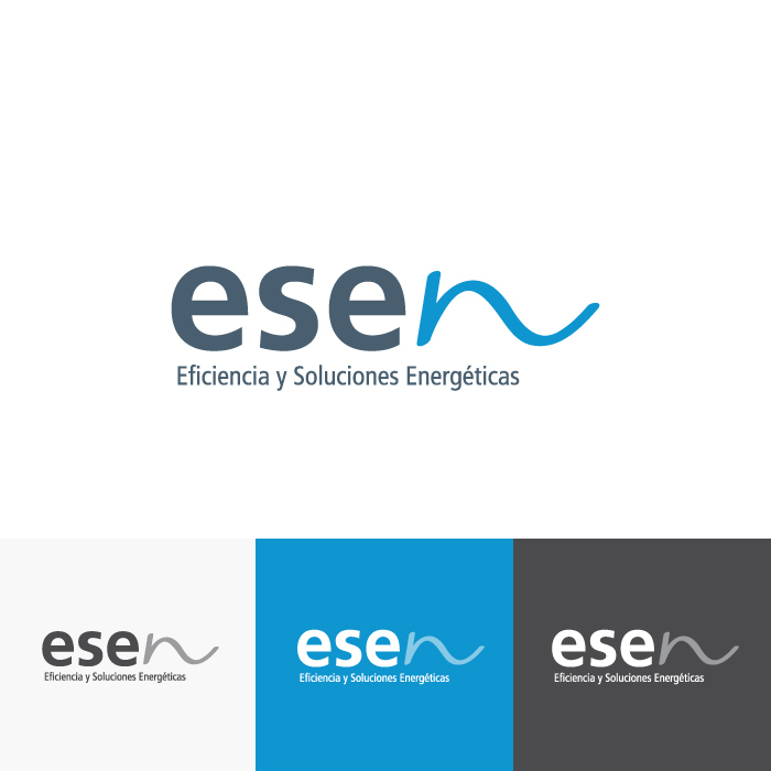 Diseño Logotipo Esen Eficiencia y Soluciones Energéticas