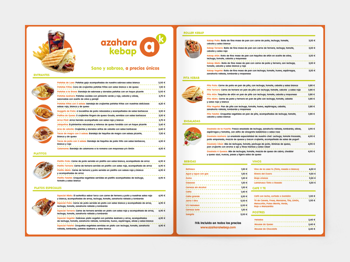 Diseño gráfico Azahara Kebab