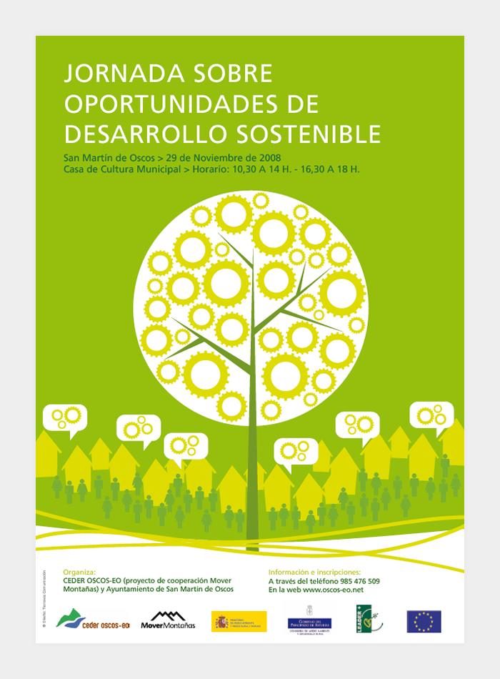 Diseño gráfico Jornadas sobre oportunidades de desarrollo sostenible