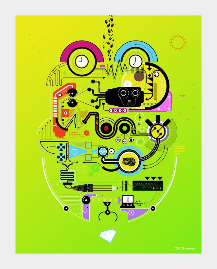 Diseño gráfico de mupi Motiva