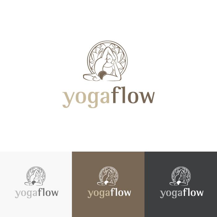 Diseño logotipo Yogaflow