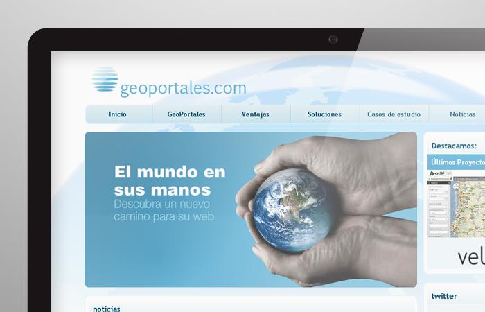 Aplicación de logotipo de Geoportales
