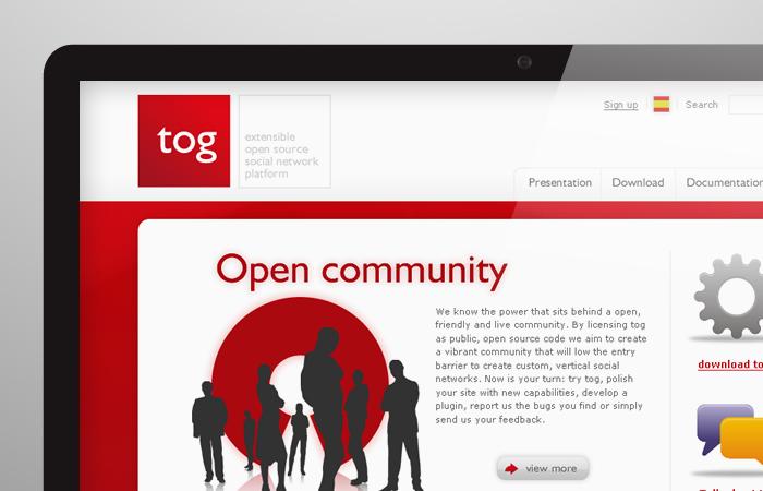 Aplicación de logotipo de Tog