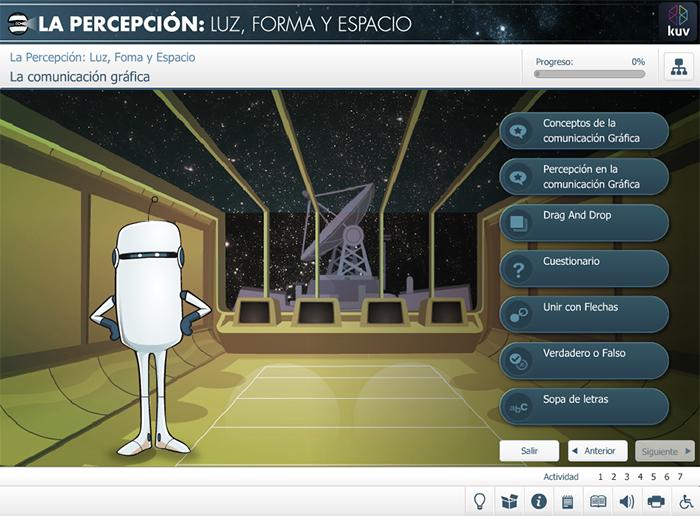 Comunicación gráfica de La Percepción: Luz forma y espacio