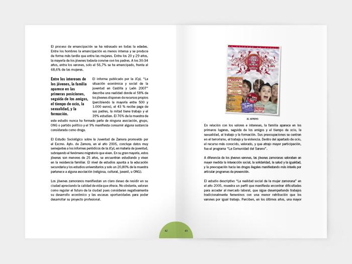 Diseño gráfico plan municipal sobre drogodependencias de Zamora