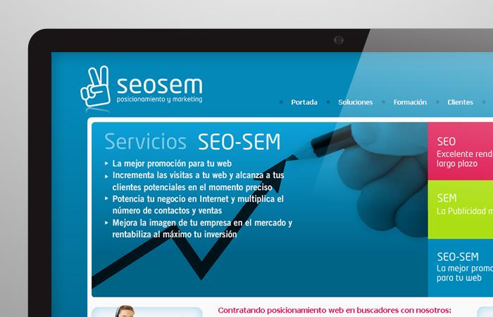 Aplicación de logotipo de Seosem
