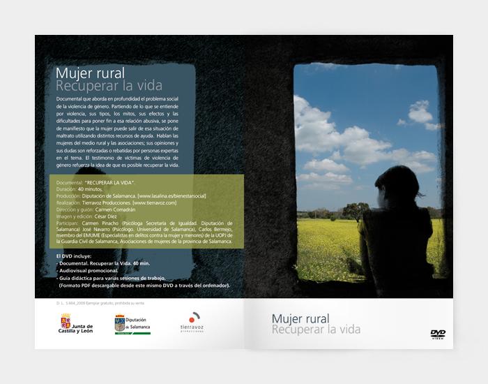Diseño gráfico Mujer Rural Recuperar la vida